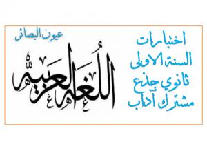 اختبارات-اللغة-العربية-السنة-الاولى-ثانوي-اداب1-300x225